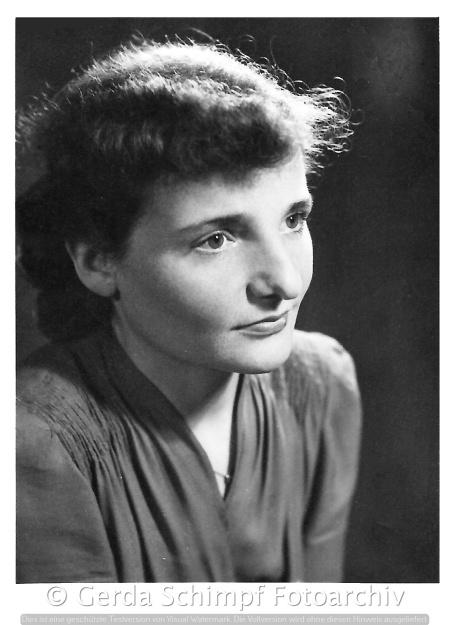 Gerda Schimpf, Anfang der 50er Jahre in Berlin West